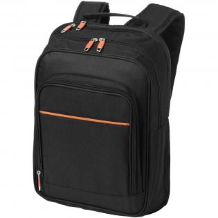 Separates Laptopfach auf der Rückseite, großes Hauptfach, schnell zu erreichende Tasche auf der Oberseite, Reißverschlusstasche mit Einteilung oben und einstellbare, gepolsterte Schulterriemen.