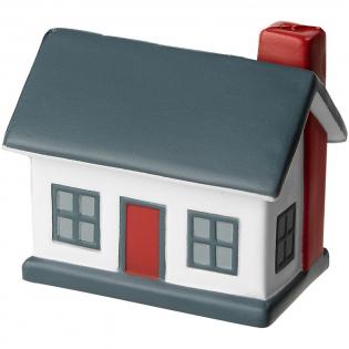 Anti stress item in de vorm van een huis. Het dak heeft een groot oppervlakte voor het plaatsen van je logo.