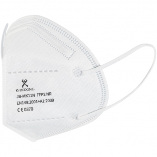 5 layers FFP2 NR face mask with soft and strong ear elastic and nose clamp ensuring a good fit. The mask has an outstanding filtering efficiency ( >98%) and is recommended for use by the general population and healthcare professionals to reduce cross-contamination. Protects the surrounding environment from particles emitted by the mask user and protects the user from the surrounding particles. Provides comfort through breathable material that does not irritate the skin. Each mask is packed in a single polybag size: 11,8 x 15,7 cm, and delivered in a 10 pieces full-colour box size: 14 x 13 x 5 cm. Compliance: EN149:2001 + A1:2009. CE Certification: issued by LGAI – notified body 0370.  Module B Certification nr: 0370-4620-PPE/B. Module C2 Certification nr: 0370-4620-PPE/C2.