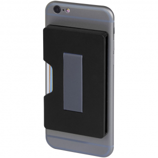 This RFID secure cardholder can safely contain up to 3 bank cards or IDs and will keep them protected from unauthorised scans and all fraudulent activities. The adhesive tape on the back allows you to fix the wallet to smartphones with a flat back. The item has a strap to securely hold the phone in your hand.