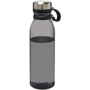 Enkelwandige drinkfles van duurzaam Tritan™-materiaal. Bestand tegen stukvallen, vlekken en geurtjes. Voorzien van een schroefdop en roestvrijstalen dop met een comfortabel handvat van siliconen. Volumecapaciteit is 800 ml.