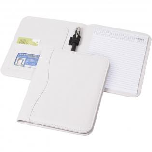 Mappe mit Stiftschlaufe, Dokumentenfächern und Notizblock mit 20 Blatt.