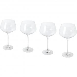 4-teiliges Gin Glas Set. Vielseitige Gin Gläser mit abgerundeten Kelchen. Glasgröße: 23,30 cm hoch, 12,80 cm Durchmesser.