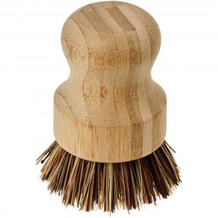 Bamboeborstel met 100% plantaardige vezels voor de borstelharen. Volledig veganistisch en geschikt voor keukens en badkamers. Bamboe neemt CO2 op uit de atmosfeer, groeit sneller en produceert meer zuurstof dan bomen.