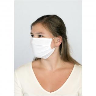 Enkellaags mondmasker inclusief metalen neusbrug. Wasbaar op 60 graden. Gemaakt van zacht en comfortabel 100% gecertificeerd biologisch katoen. GOTS-certificering zorgt voor een 100% gecertificeerde toeleveringsketen. Het gebruik van dit masker is uitsluitend voorbehouden voor niet-hygiënische doeleinden Dit item is geen medisch hulpmiddel in de zin van de verordening EU/2017/745 (chirurgische maskers) en ook geen persoonlijke beschermingsmiddelen in de zin van de verordening EU/2016/425 (zoals filtermaskers van het type FFP2 of FFP3). Dit product is niet geschikt voor medisch gebruik en biedt geen bescherming tegen infecties.