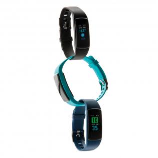 """Lichtgewicht en waterdichte (IP67) activity tracker met comfortabel TPE-polsbandje om de armband zowel overdag als 's nachts te dragen. Met eenvoudig te gebruiken 0'96"""" OLED-kleurenscherm. Inclusief gratis APP in 10 talen om inzicht te krijgen in je prestaties (voor iOS 8.1 en Android 4.4 of hoger). Functies inbegrepen: slaap volgen, stap tellen, afstand, calorietelling, hartslagmeter, bloeddruk, zuurstof in het bloed en stopwatch. Met deze modieuze activity tracker stap je in een gezondere levensstijl. Stand-by tijd van 7 dagen en werktijd tot 3 dagen."""