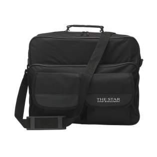 Flight bag made of 600D polyester with large pockets, reinforced handle and adjustable/detachable shoulder strap.