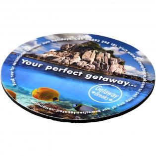 Laminierter Papieruntersetzer mit schwarzer Schaumstoffbasis für hochwertige Drucke.