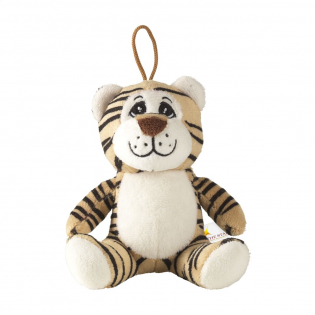 Plush toy from the Animal Friend Series. This tiger is very soft, and has an embroidered snout and hanging loop.