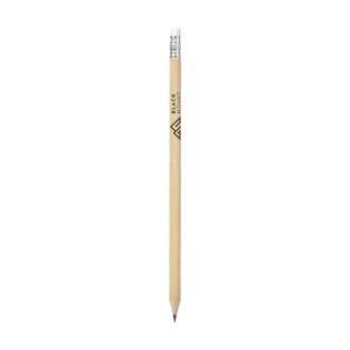 Crayon de bois (HB) avec gomme.