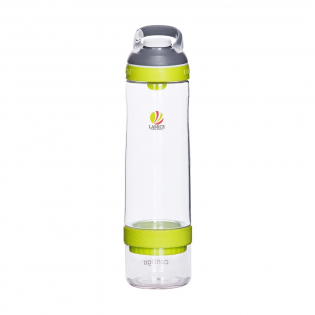 Smart water bottle made of clear BPA-free Tritan. With  AUTOSEAL® technology (100% spill and leak-free design. AUTOSEAL® press the button, take a nip. The drinking hole closes automatically after each nip). Unique locking system, carabiner and special infusion cup at the bottom. Fill the infusion cup with herbs or fruit and fill the bottle with water. Attach both parts in a snap to each other. The fruit flavour mixes with the water. Thanks to the special strainer the fruit does not float in the bottle. A real recommendation. Dishwasher safe. Incl. instructions. Content 750 ml. STOCK AVAILABILITY: Up to 1000 pcs accessible within 10 working days plus standard lead-time. Subject to availability.  Contigo® The best in quality, design and technology. Immediately recognisable by its sleek and stylish design, strong and solid. The innovative Contigo® water bottles and thermo cups are odourless, tasteless, BPA-free and based on the revolutionary AUTOSEAL® or AUTOSPOUT® technology (2 year warranty). Closed the spout is protected from dirt and microbes. The drinking bottles are one-hand operated and guaranteed 100% leak-free, so always and everywhere to use. Our top favorites for a durable promotion!