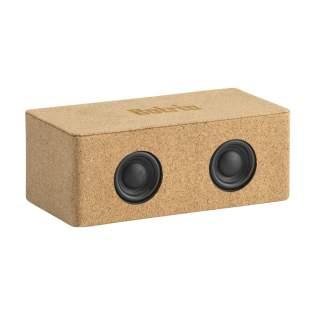 Haut-parleur Bluetooth avec boîtier en liège naturel. Le haut-parleur Bluetooth sans fil 10 W (version 5.0) est rechargeable et offre une excellente qualité sonore. La batterie Li-ion intégrée de 1200 mAh peut être chargée en seulement 2 heures et offre jusqu'à 3 heures et 30 minutes de temps d'écoute. La portée Bluetooth peut atteindre jusqu'à 10 mètres. Ce produit et ses accessoires sont fabriqués sans PVC. Chaque article estfourni dans uneboite individuelle en papier kraft marron.