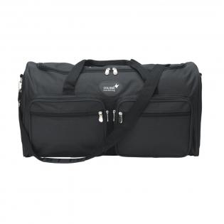 Qualitätssport-/Reisetasche aus mit 5 Einsteckfächern und verstellbarem Schulterriemen. Ausgeführt in wasserabweisendem Duo-Tone 600 D Polyester in Carréstruktur und ausgekleidet mit einem schicken Futter. Fassungsvermögen: ca. 30,5 Liter.