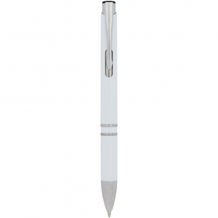 Anti-bacterial ballpoint pen with click action mechanism with a silver nano powder additive, which reduces the growth of micro-organisms on the surface of the pen. Ideal ballpoint pen to use in places such as schools, hotels, sport clubs, bars, offices, hospitals, banks, and other environments where sharing a ballpoint pen is common. Tested in accordance with ISO 22196 (2011).