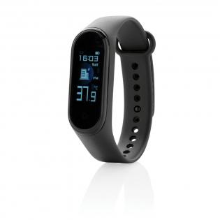 Houd altijd je lichaamstemperatuur en je algemene fitheid in de gaten met deze armband met geïntegreerde lichaamstemperatuursensor. (tot max. 0,2 graden afwijking) De armband heeft een 0'96 TFT-kleurenscherm. Functies: BT 4.2, IP67 waterdicht, inkomende oproep / bericht, stopwatch, multisportmodus, verbrande calorieën, stappentelling en slaapmonitor. De armband is gemaakt van zacht TPU waardoor hij de hele dag comfortabel zit. Met 90 mAh A-batterij die een standby-tijd tot 5 dagen mogelijk maakt.