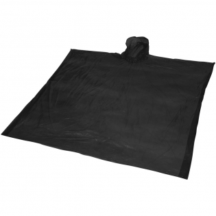 Poncho (90x120 cm.) with hood inresealable pouch. Decoration on pouch only.