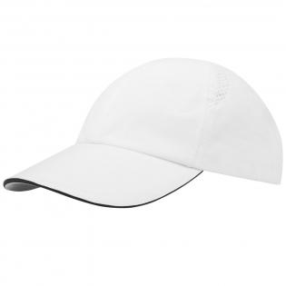 Nachhaltige Kappe für Werbezwecke. Vorgebogener Schirm mit Sandwichdesign. Gelaserte Belüftungslöcher. Schnallenverschluss aus Metall