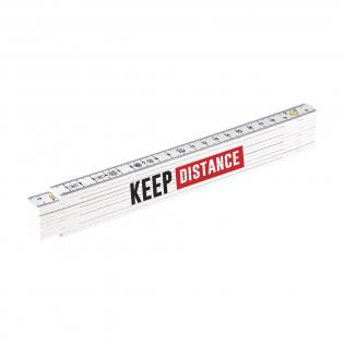 Mètre en fibre de verre solide, d'une longueur de 2 mètres. Conforme aux normes européennes.