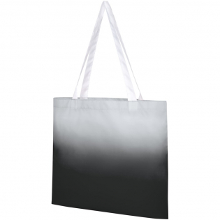 Tote bag designed with graduated colour effect, featuring two handles with a dropdown height of 27cm.