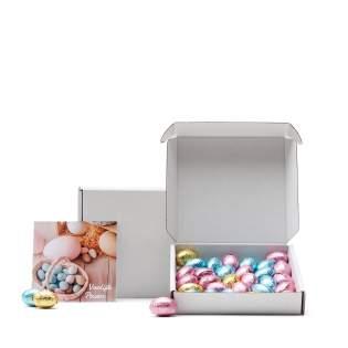 Brievenbus pakket met Belgische chocolade eitjes