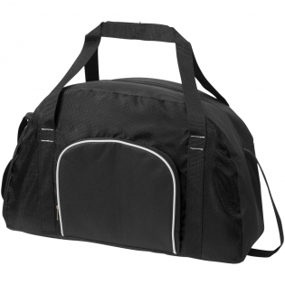 Duffel with a large zipped main compartment to hold all of your sporting goods or overnight needs. The zipped front pocket allows additional and easy access storage. Other features include ripstop accents, adjustable shoulder strap and grab handles.