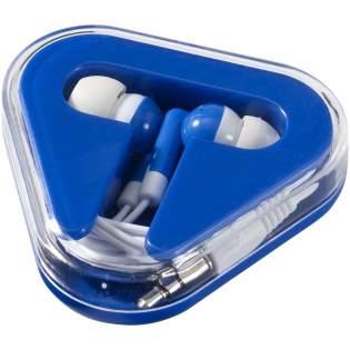 Boite plastique triangulaire avec rangement des câbles. Compatibles avec tout équipement audio avec prise jack de 3,5 mm.