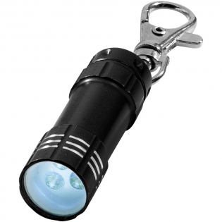 Sleutelhanger met Drievoudig wit LED-licht. Inclusief. batterijen.