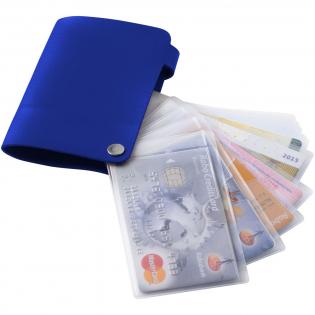 Creditcardhouder voor 10 kaarten en druksluiting.