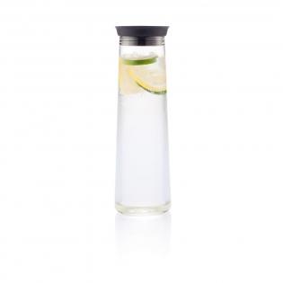 Trendy 1,2L glazen waterkaraf met deksel van siliconen.