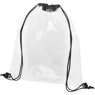 Le matériau transparent rend ce sac parfait pour tous les évènements sportifs, pour le travail où toute autre raison de sécurité. Grand compartiment principal avec fermeture à cordon. Accessoires non fournis.