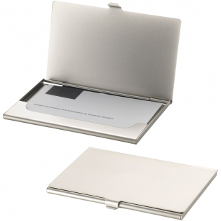 Matt plated business card holder. Holds approximately 10 business cards.