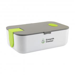 Luxe lunchbox van hoogwaardig kunststof. Het deksel sluit perfect door de siliconen afsluitring en extra kliksluiting. Met uitneembare verdeler en ventilatieopening. De kliksluiting is te gebruiken als telefoonhouder. Deze box mag in de koelkast en is dus ook te gebruiken als luchtdichte vershoudbox. Geschikt voor de magnetron.