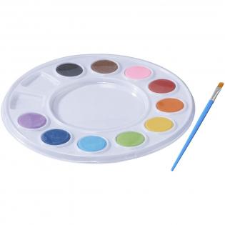 Le kit de peinture comprend 10 couleurs vives et un pinceau.
