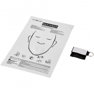 A must-have item for all CPR trained personnel, designed to make mouth-to-mouth emergency resuscitation safe for both patient and rescuer. Tiny folded in a polyester pouch with keyring offering a large decoration area. Prevents direct contact with both rescuer's and patient's mouth, nose, and face. Resists water and saliva allowing air to ventilate. Suitable for both adults and children. The mouth-to-mouth shield is regulated, tested, and certified as Medical Device Class I in accordance with Medical Device Directive MDD 93/42/EEC of 14 June 1993.
