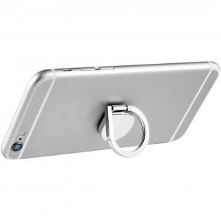Deze aluminium ring kan worden opengeklapt voor gebruik als een standaard of om het apparaat in uw hand te houden. Ring kan 360 graden gedraaid worden. Zelfklevende achterkant plakt stevig op de achterkant van een smartphone.