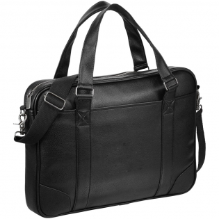 """Make a sound investment with the Oxford professional collection. Standard features include a zipped main compartment that fits most 15.6"""" laptops, folders, books, and files. Interior organizational pockets for your iPad, Surface, or other tablet device and additional business essentials, as well as a front hook & loop closure pocket for extra storage. Detachable, adjustable shoulder strap, carrying handles, and trolley sleeve for ease of travel. Antique bronze hardware."""