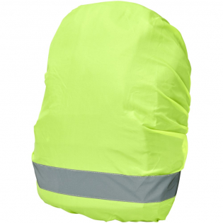 Ideal safety bag cover for cyclists, hikers, commuters, etc. An extra flexible safety accessory that increases visibility, while keeping the contents of the bag dry. Made of high performance waterproof WP 600 lime fluorescent material with reflective film. Selected parameters are tested according to EN 13356:2001 Type 2.