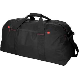 Très grand sac de voyage avec compartiment principal et poche frontale zippés.