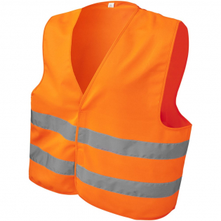 Gilet haute visibilité en taille XL adapté aux personnes d'une taille comprise entre 165 et 180 cm. Disponible dans une grande variété de couleurs avec une grande surface de marquage à l'avant et à l'arrière du gilet. EN 1150:1999. Vêtement haute visibilité pour usage non professionnel, avec fond fluorescent et bande réfléchissante. Ces vêtements portent le marquage CE pour démontrer leur conformité à la réglementation européenne 2016/425/EU, équipement de protection individuelle de catégorie II.