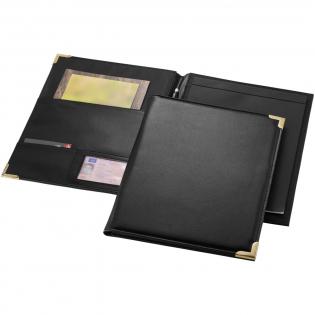 Mappe mit Dokumentenfächern, Stiftschlaufe und Notizblock mit 20 Blatt.