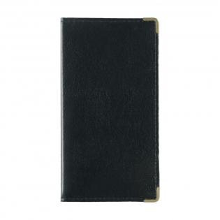 Portefeuille en matière synthétique avec 7 pochettes pour cartes de crédit, 3 pochettes intérieures et 2 coins de protection. Agenda non inclus.