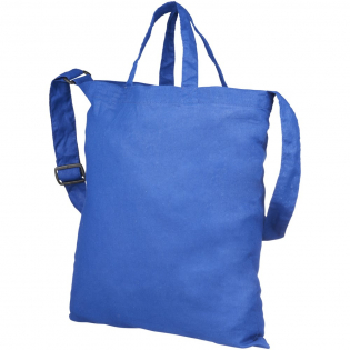 Tote with short handles, shoulder strap and open main compartment. Drop down height of handles are 17 cm in length. Shoulder strap is adjustable between 1m – 1.29m length. Width of shoulder strap is 3,8 cm.