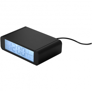 The Seconds wireless charging clock with alarm function can be used on any desk or night stand. Always know what time it is while using the top to charge your wireless charging enabled smartphone. The clock can also show temperature in either Celsius or Fahrenheit. Supports wireless charging at up to 1A. Wireless charging only works with devices that support it. For devices that don't support wireless charging, an external wireless charging receiver or receiver case is required. Includes Micro USB charging cable.