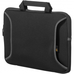 """Compact neoprene sleeve allows you to safely transport your netbook alone or in any briefcase, messenger bag or backpack. Compatible with Chromebook™ or Ultrabook™ with up to 12.1"""" screens. Outer zippered accessory pocket provides a convenient place to carry your power adapter, cables and accessories. Carry handles for comfortable transportation."""