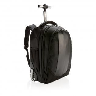"""Valise-sac à dos 1680D, de grande qualité, avec poignet trolley extensible en aluminium, idéal pour les voyages d'affaires. Compartiment principal avec poche pour ordinateur portable 15,6"""". Poche frontale zippée avec fonction organiseur. Modèle déposé®"""