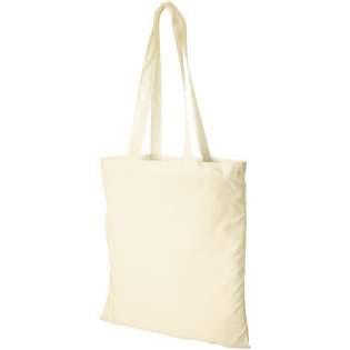 Sac shopping en coton avec compartiment principal ouvert. Longueur des anses : 30 cms.