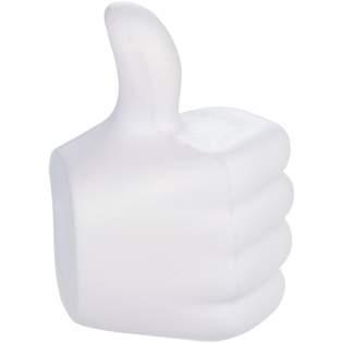 Populair social media icoon duim omhoog anti stress item. Bij anti-stress artikelen kunnen kleine variaties voorkomen in dichtheid, kleur, afmetingen en gewicht die effect kunnen hebben op precisie en uniformiteit van de bedrukking, die ook kan breken. Geen half-tinten.