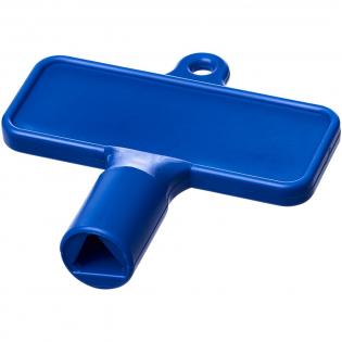 Hulpsleutel voor items zoals radiatoren, meterboxen, straatpalen. De afmetingen van de opening is een driehoekige vorm met 8 mm randen.