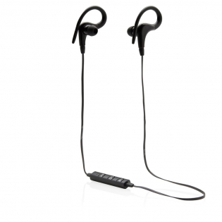 Wireless sport earbuds with 60 cm wire TPE cable. The earbuds are suitable for both sport and daily use because of their comfortable fit. Includes microphone to pick up and answer calls and volume buttons to control the volume. The device uses wireless BT 4.0 for smooth connection to your mobile device. The 55 mAh battery allows you to play up to 3 hours of your favourite music. Operating distance up to 10 metres. Including EVA zipper pouch. Including micro USB cable.