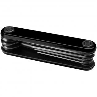 Compacte inbus gereedschapset die de belangrijkste gereedschappen combineert met een handig opvouwbaar ontwerp. Beschikt over 5 inbus sleutels tussen 2 en 5 mm, 1 platte kop en 1 Philips kruiskop schoevendraaier. Geleverd in een STAC geschenkverpakking.